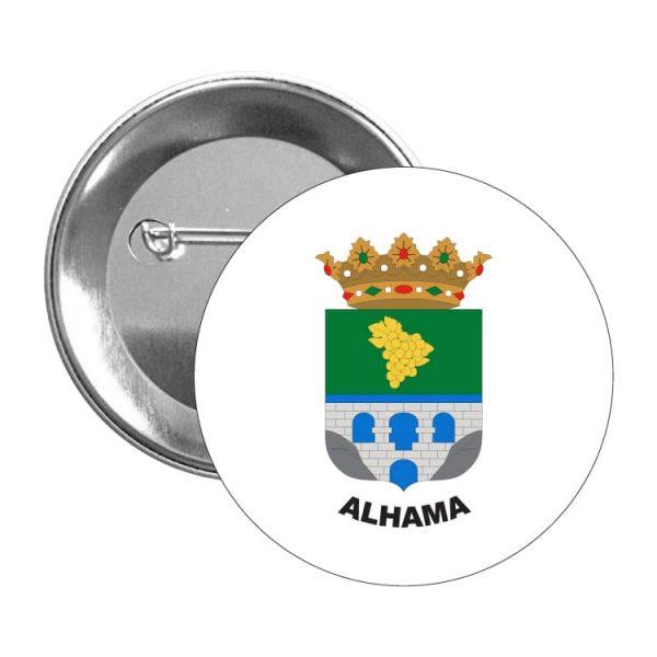 chapa escudo heraldico alhama