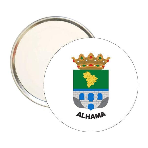 espejo redondo escudo heraldico alhama