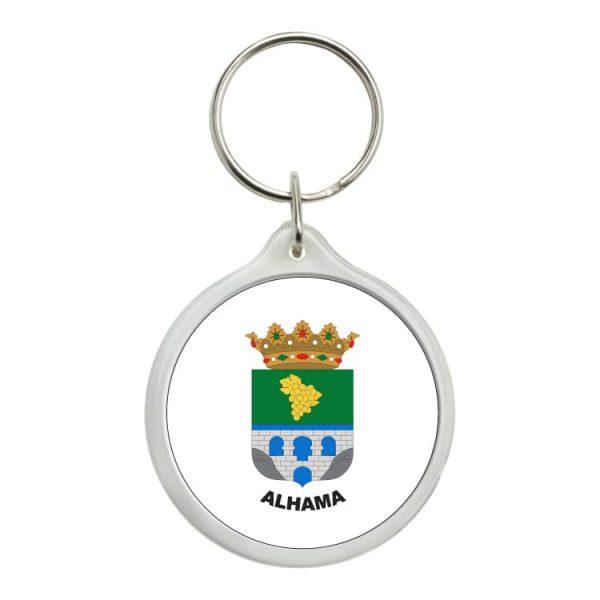 llavero redondo escudo heraldico alhama