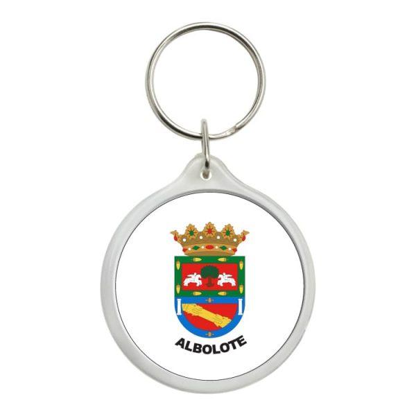 llavero redondo escudo heraldico albolote
