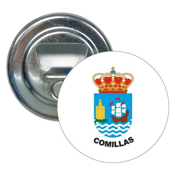abridor redondo escudo heraldico comillas