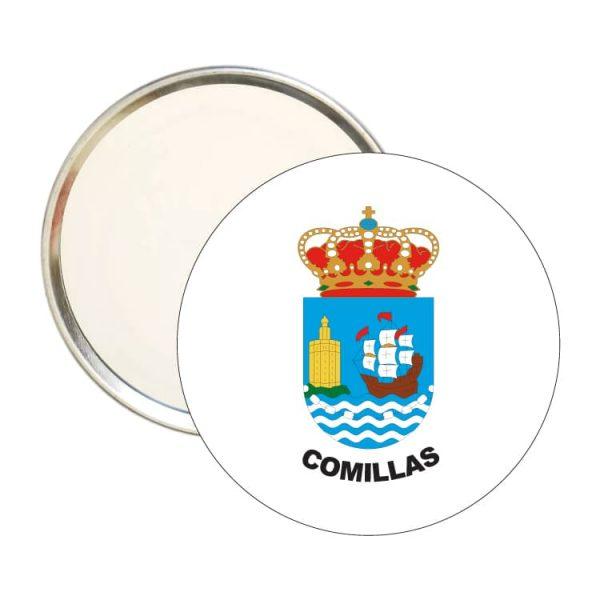 espejo redondo escudo heraldico comillas