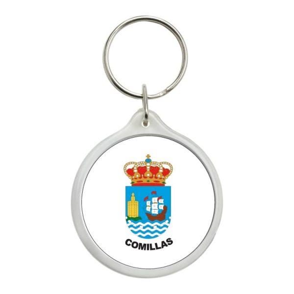 llavero redondo escudo heraldico comillas