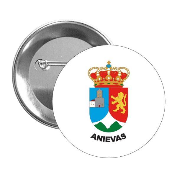chapa escudo heraldico anievas