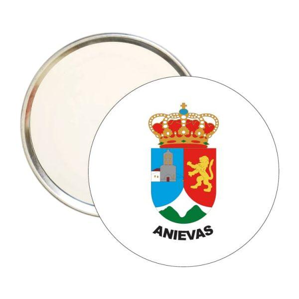 espejo redondo escudo heraldico anievas