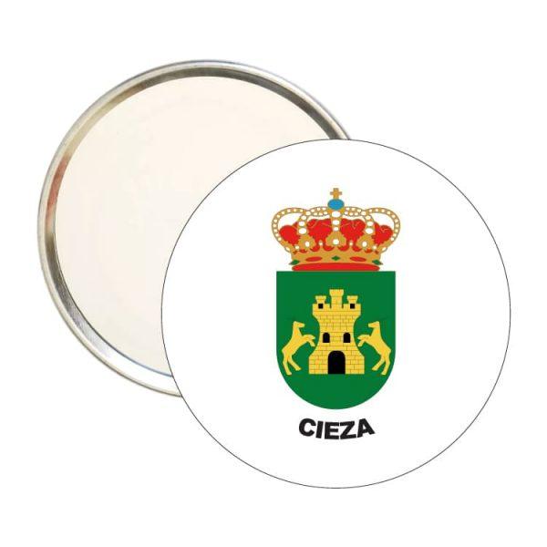 espejo redondo escudo heraldico cieza