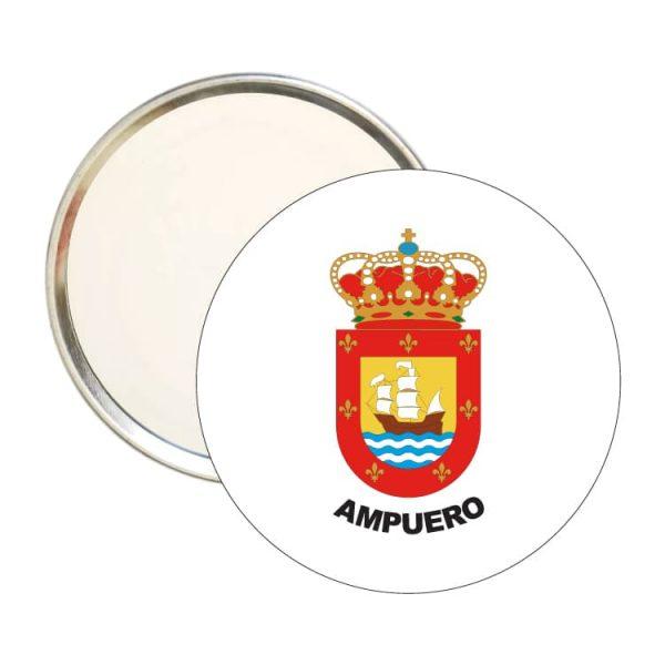 espejo redondo escudo heraldico ampuero