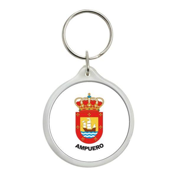 llavero redondo escudo heraldico ampuero