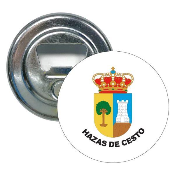 abridor redondo escudo heraldico hazas de cesto