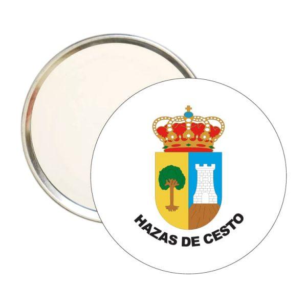 espejo redondo escudo heraldico hazas de cesto