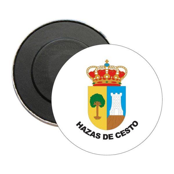 iman redondo escudo heraldico hazas de cesto