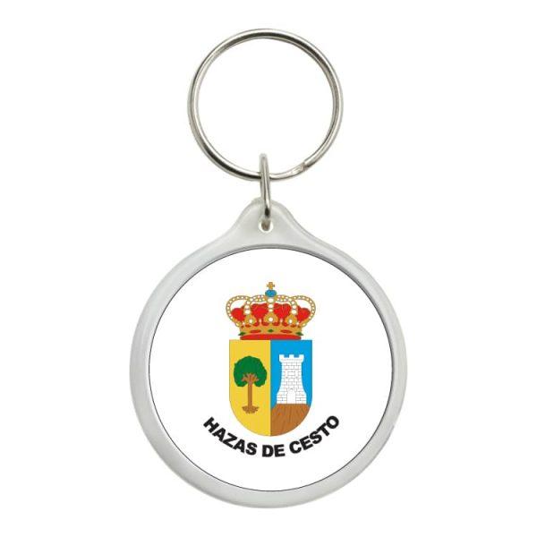 llavero redondo escudo heraldico hazas de cesto