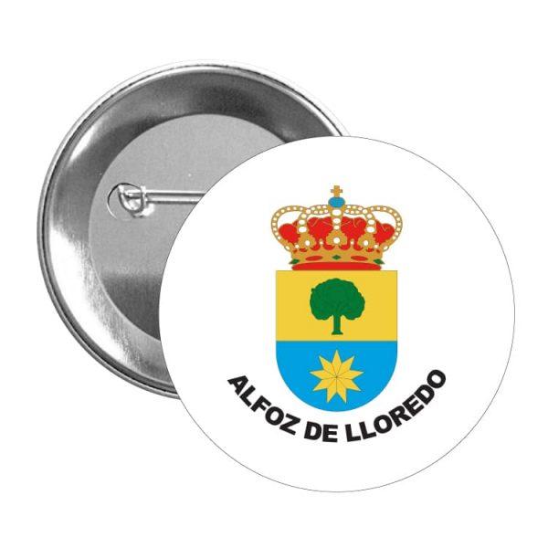 chapa escudo heraldico alfoz de lloredo