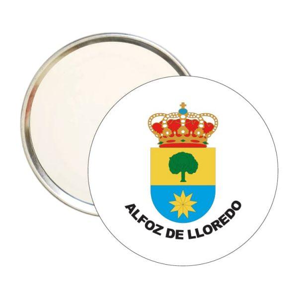 espejo redondo escudo heraldico alfoz de lloredo