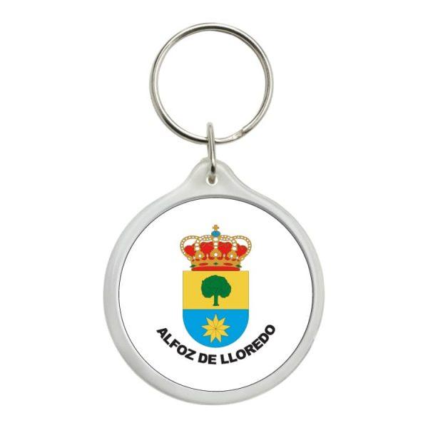 llavero redondo escudo heraldico alfoz de lloredo