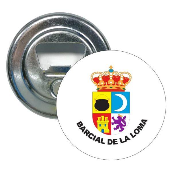 abridor redondo escudo heraldico barcial de la loma