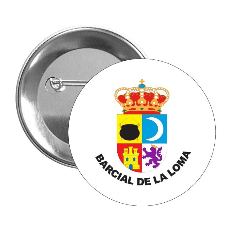 chapa escudo heraldico barcial de la loma
