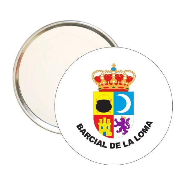 espejo redondo escudo heraldico barcial de la loma