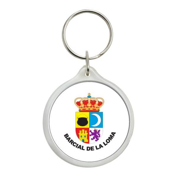llavero redondo escudo heraldico barcial de la loma
