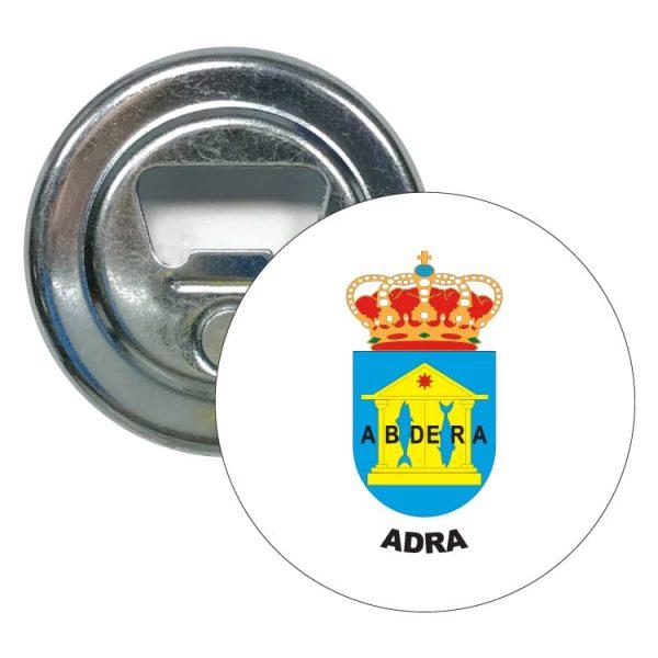 abridor redondo escudo heraldico adra