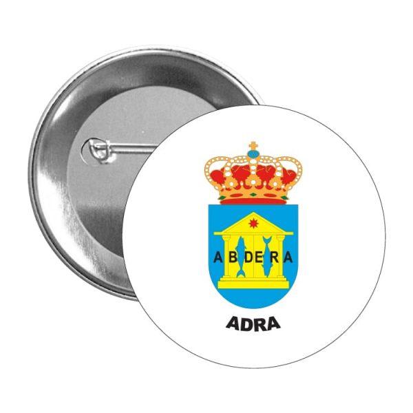 chapa escudo heraldico adra