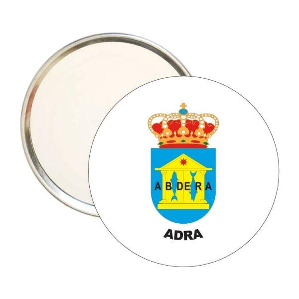 espejo redondo escudo heraldico adra