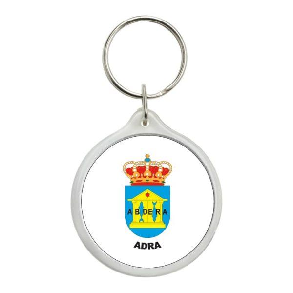llavero redondo escudo heraldico adra
