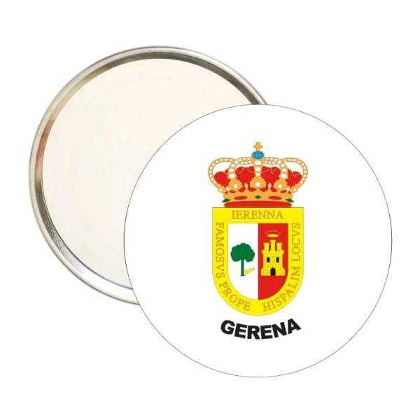 espejo redondo escudo heraldico gerena