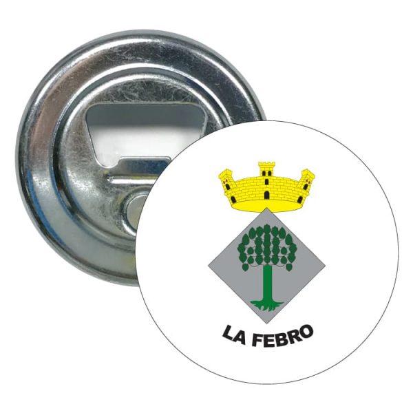 abridor redondo escudo heraldico la febro