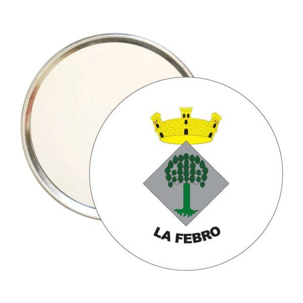 espejo redondo escudo heraldico la febro