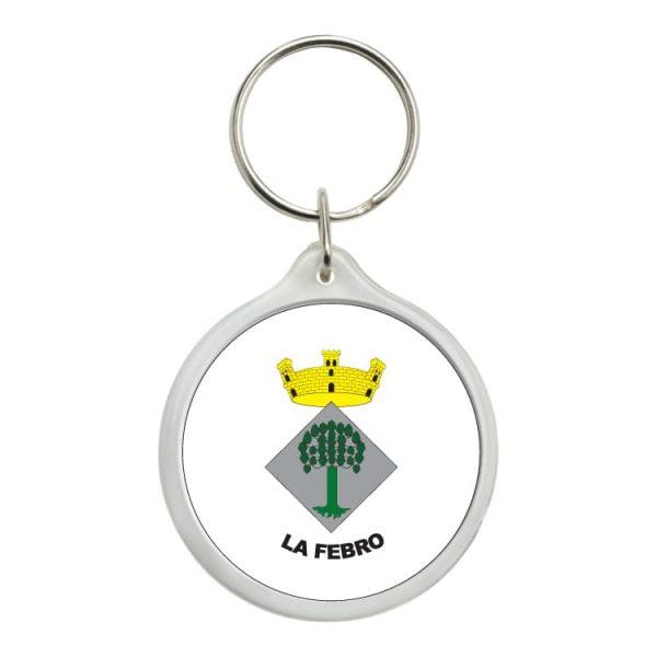 llavero redondo escudo heraldico la febro