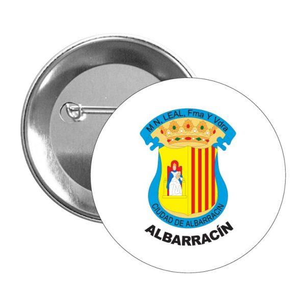 chapa escudo heraldico albarracin