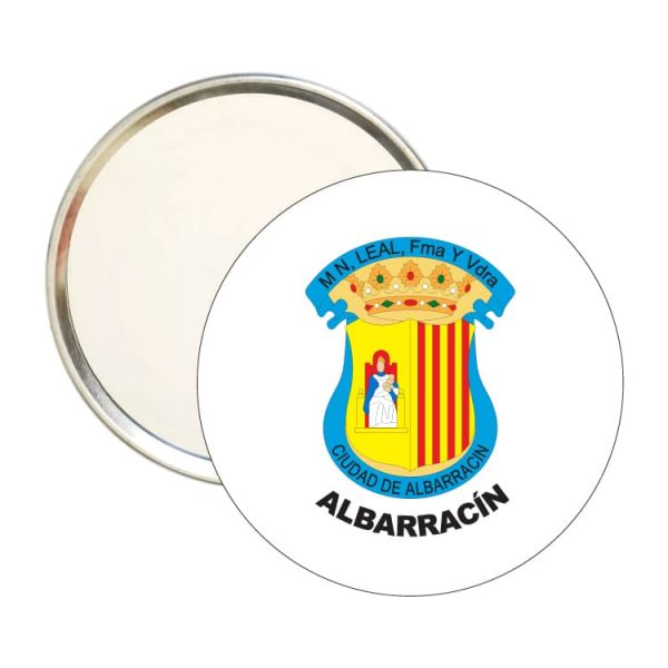espejo redondo escudo heraldico albarracin