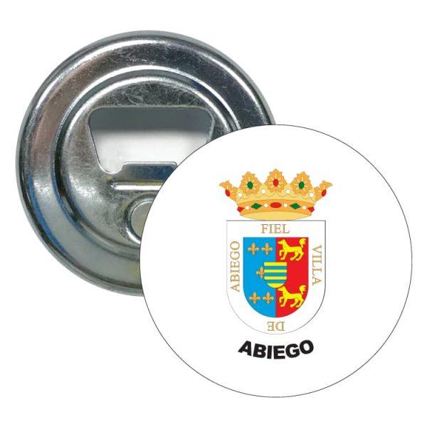 abridor redondo escudo heraldico abiego