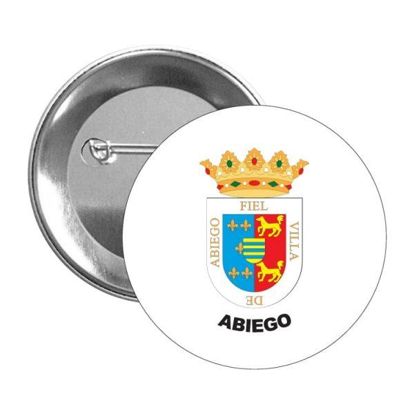 chapa escudo heraldico abiego