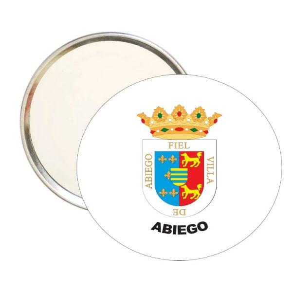 espejo redondo escudo heraldico abiego