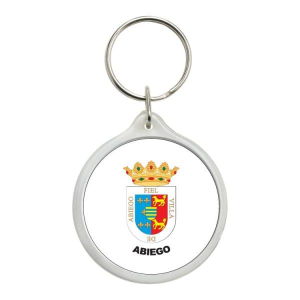 llavero redondo escudo heraldico abiego
