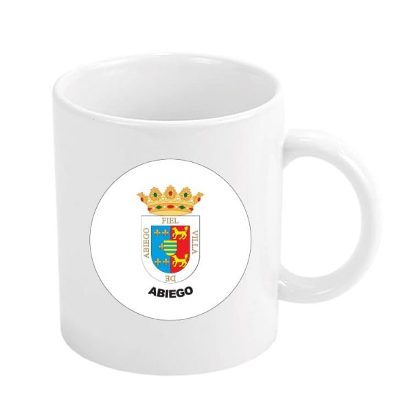 taza escudo heraldico abiego