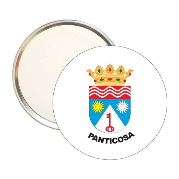 espejo redondo escudo heraldico panticosa