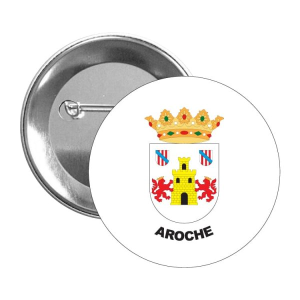 chapa escudo heraldico aroche