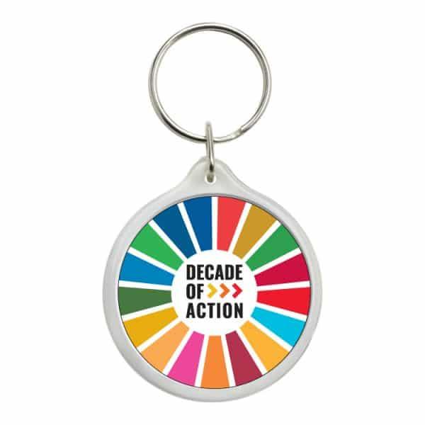 llavero redondo ods sdg desarrollo sostenible decade of action