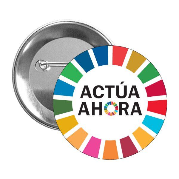 chapa ods sdg desarrollo sostenible actua ahora #2