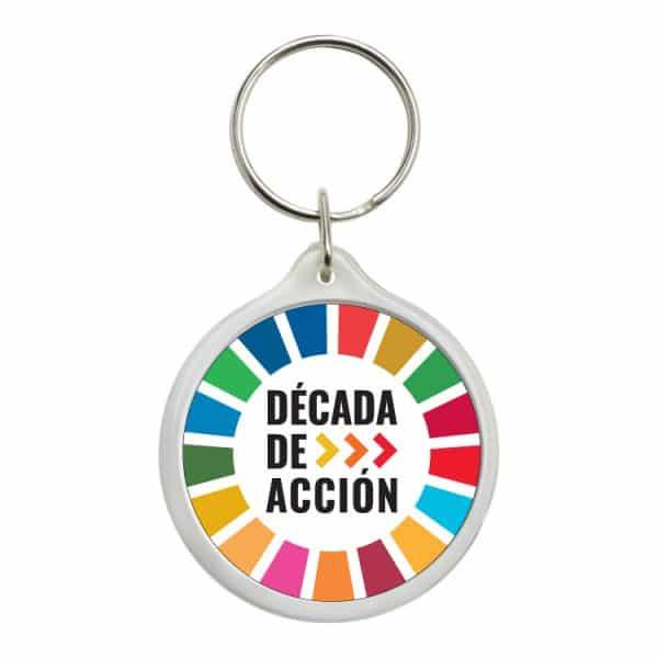 llavero redondo ods sdg desarrollo sostenible decada de accion