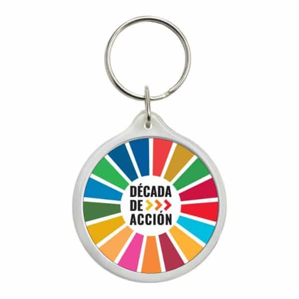 llavero redondo ods sdg desarrollo sostenible decada de accion #2