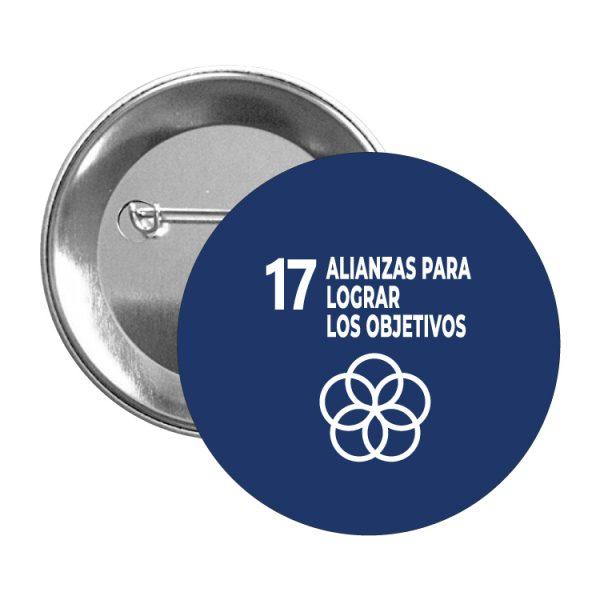 chapa ods sdg desarrollo sostenible 17 alianzas para lograr objetivos