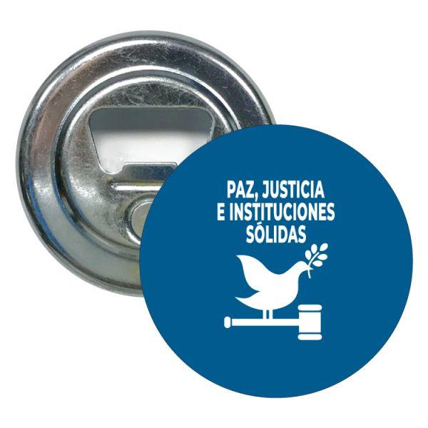 abridor redondo ods sdg desarrollo sostenible paz justicia e instituciones solidas