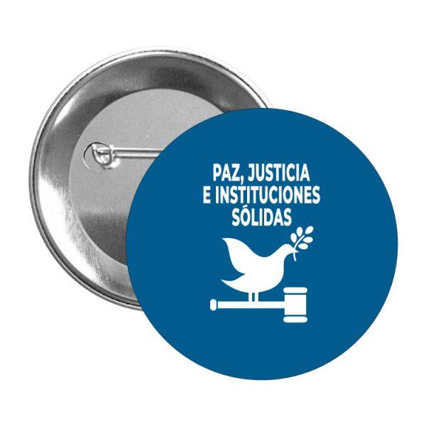 chapa ods desarrollo sostenible paz justicia e instituciones solidas