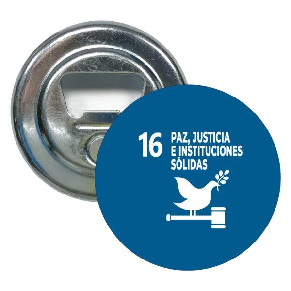abridor redondo ods sdg desarrollo sostenible 16 paz justicia e instituciones solidas