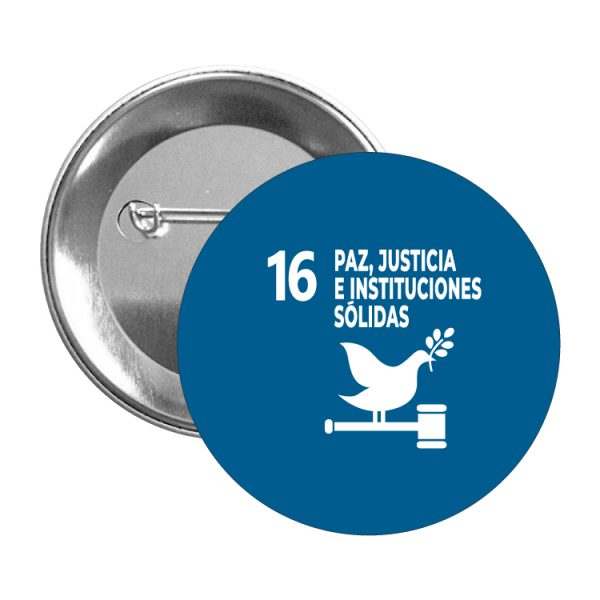 chapa ods sdg desarrollo sostenible 16 paz justicia e instituciones solidas
