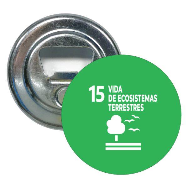 abridor redondo ods sdg desarrollo sostenible 15 vidas de ecosistemas terrestres